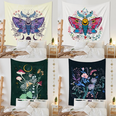 vintage butterfly background cloth fabric hanging painting tapestry wholesale nihaojewelry  NHZAJ429950's discount tags