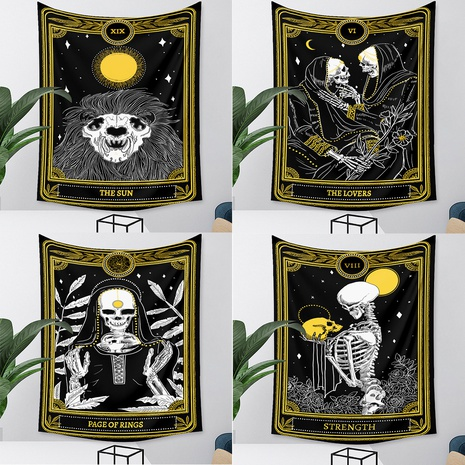 retro tarot skull tapestry background wall decoration wholesale Nihaojewelry NHZAJ429955's discount tags
