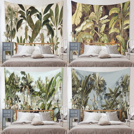 Tropical jungle green plant tapestry home bedroom decoration wholesale Nihaojewelry NHZAJ429956's discount tags