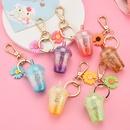 acrylic milk tea cup luminous keychain wholesale nihaojewelry  NHXIU429985