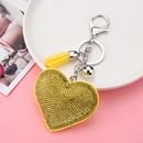 creative sequins heart pendant tassel key chain wholesale Nihaojewelry NHXIU430005