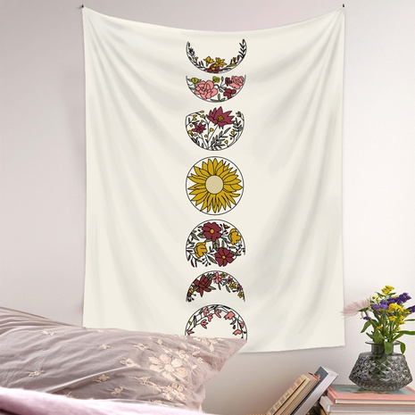 fashion moon phase flowers printing tapestry wholesale Nihaojewelry  NHQYE430101's discount tags