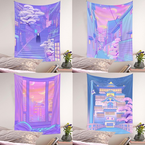 Bohemian city view printing background cloth wholesale Nihaojewelry  NHQYE430103's discount tags