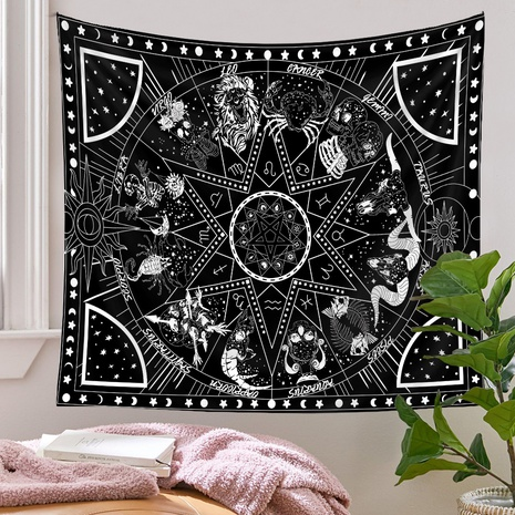 bohemian 12 constellation tapestry background wall decoration wholesale Nihaojewelry   NHQYE430106's discount tags