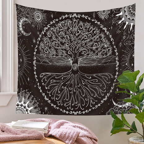 bohemian tree lines tapestry background wall decoration wholesale Nihaojewelry NHQYE430108's discount tags