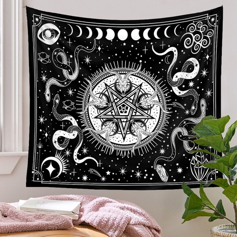 bohemian snake moon lines tapestry background wall decoration wholesale Nihaojewelry NHQYE430109's discount tags
