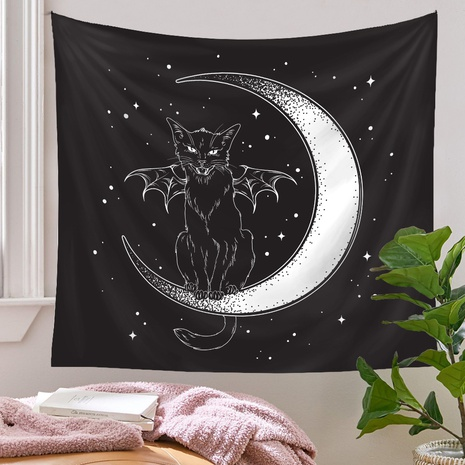 bohemian big moon tapestry background wall decoration wholesale Nihaojewelry NHQYE430110's discount tags