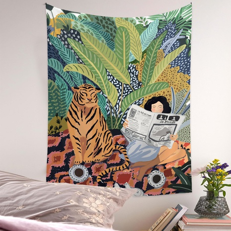 Bohemian jungle tiger figure printing decorative background cloth wholesale Nihaojewelry  NHQYE430117's discount tags