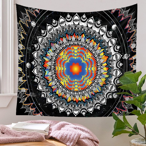 Retro Contrast Color Mandala Printing Room Decoration Wall Cloth Wholesale Nihaojewelry  NHQYE430118's discount tags