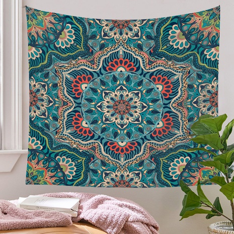 bohemian clashing color pattern tapestry background wall decoration wholesale Nihaojewelry NHQYE430119's discount tags