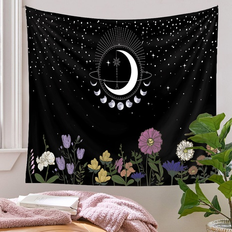 bohemian moon flowers tapestry background wall decoration wholesale Nihaojewelry NHQYE430120's discount tags