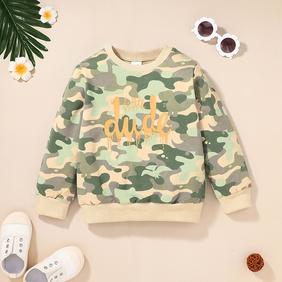 hit color pattern round neck long-sleeved children's pullover sweater wholesale nihaojewelry  NHSSF430188