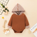 striped hooded childrens romper trousers twopiece set wholesale nihaojewelry  NHSSF430191
