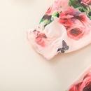 fashion chiffon childrens suspender floral printing dress wholesale nihaojewelry NHSSF430203