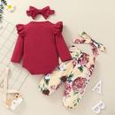 fashion printing longsleeved childrens romper twopiece suit wholesale Nihaojewelry NHSSF430237