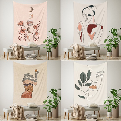 fashion geometric lines tapestry background wall decoration wholesale Nihaojewelry NHZAJ430246's discount tags