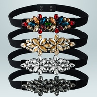 retro elastic color gemstone belt decoration wholesale Nihaojewelry NHLN430257