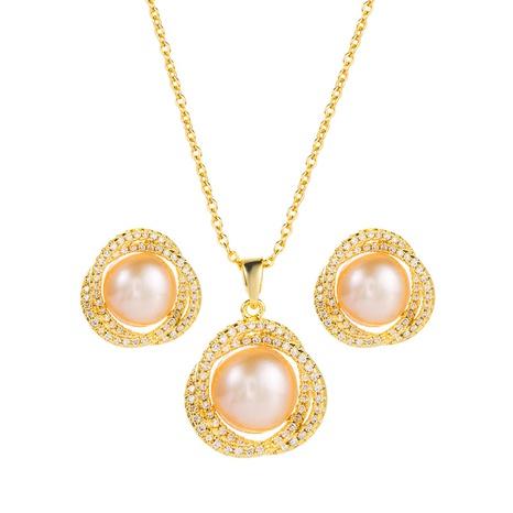 Pendientes de collar con colgante de perlas de estilo coreano, conjunto de 2 piezas, joyería al por mayor, Nihaojewelry NHLN430270's discount tags