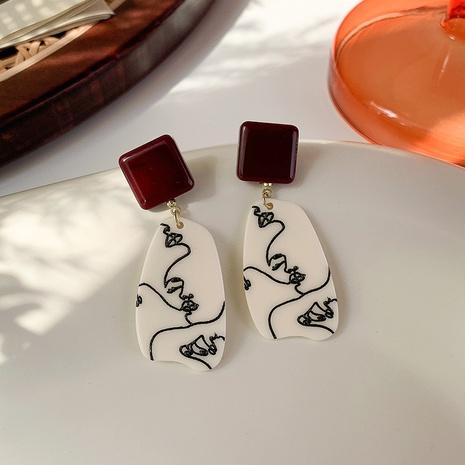 estilo coreano hit color línea geométrica pendientes colgantes al por mayor nihaojewelry NHMS430435's discount tags
