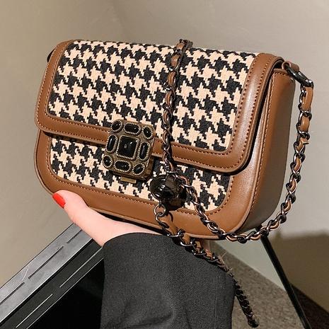 einfacher Gitterkurier kleine quadratische Tasche Großhandel nihaojewelry NHLH430446's discount tags