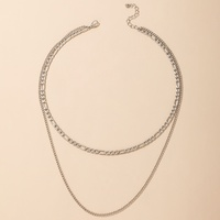 new fashion creative geometric double-layer necklace wholesale Nihaojewelry  NHGY431567