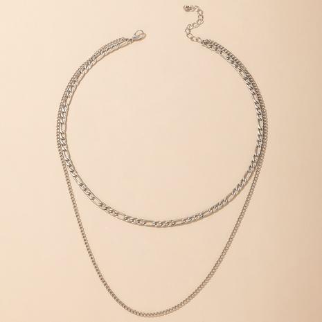 neue Art und Weise kreative geometrische doppellagige Halskette Großhandel Nihaojewelry NHGY431567's discount tags