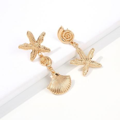 Ocean Series Seestern Muschel Metall Ohrringe Großhandel Nihaojewelry NHMD431557's discount tags