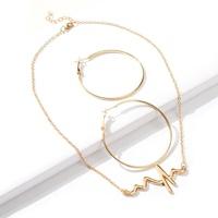 Lightning Wave Necklace Hoop Earring Set Wholesale Nihaojewelry  NHMD431555