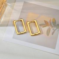 retro geometric square copper ear buckle wholesale Nihaojewelry NHHF431279