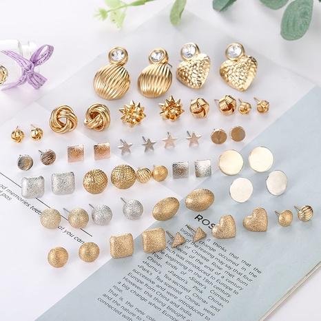 einfache Schneelichtperle gefrostet rund Ohrringe Großhandel Nihaojewelry NHSD431283's discount tags
