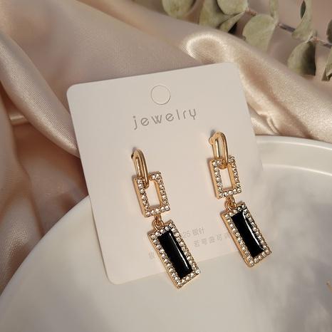 Mode geometrische quadratische Spleißohrringe Großhandel Nihaojewelry NHSD431291's discount tags