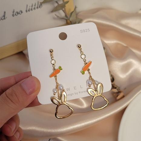 boucles d'oreilles lapin carotte creuse de mode en gros Nihaojewelry NHSD431293's discount tags