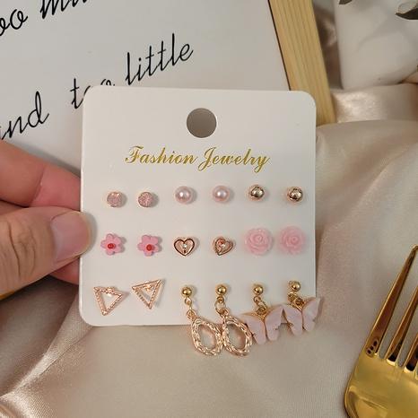 ensemble de boucles d'oreilles en perles de fleur d'opale de diamant de mode en gros Nihaojewelry NHSD431299's discount tags