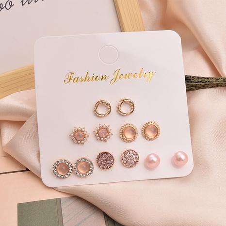 Étoile coréenne cercle creux 6 paires de boucles d'oreilles en gros Nihaojewelry NHSD431301's discount tags