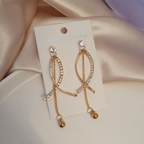 Koreanische geometrische runde Kugel lange Quastenohrringe Großhandel Nihaojewelry NHSD431309's discount tags
