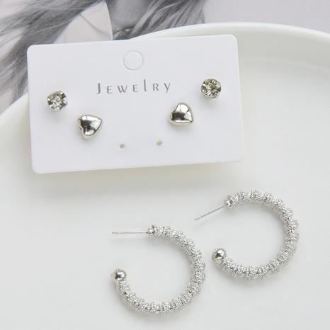 Mode Metall Herz Kreis Ohrringe Set Großhandel Nihaojewelry NHSD431315's discount tags