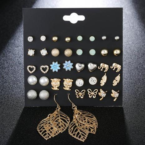 ensemble de boucles d'oreilles en diamant hibou insecte perle simple en gros Nihaojewelry NHSD431324's discount tags