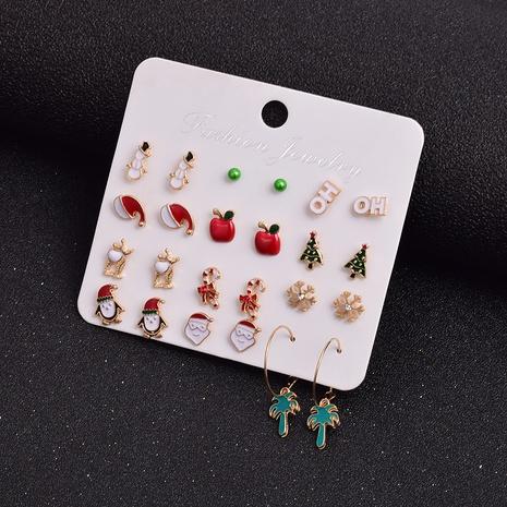 Ensemble de boucles d'oreilles arbre de chapeau de père Noël de Noël en gros Nihaojewelry NHSD431328's discount tags