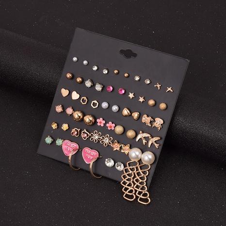 Mode herzförmige Blumenstern Perlenohrringe 30 Paar Kombinationsset Großhandel Nihaojewelry NHSD431334's discount tags