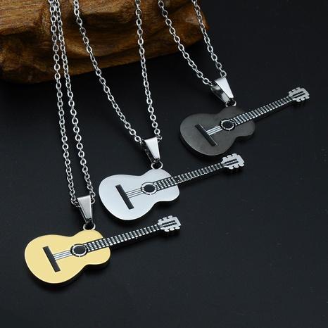 fashion stainless steel guitar necklace pendant wholesale Nihaojewelry NHLIZ431396