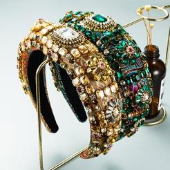 Baroque full drill thickened sponge embroidery headband wholesale Nihaojewelry NHLN431593