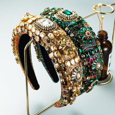 Bandeau de broderie éponge épaissie pleine perceuse baroque en gros Nihaojewelry NHLN431593's discount tags