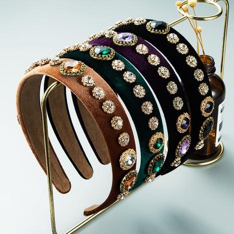 bandeau en flanelle de perceuse de verre rétro en gros Nihaojewelry NHLN431596's discount tags