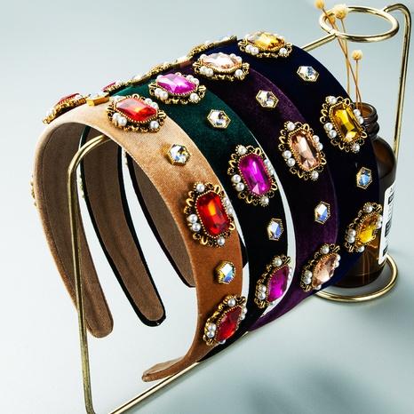 bandeau baroque perle strass en gros Nihaojewelry NHLN431598's discount tags