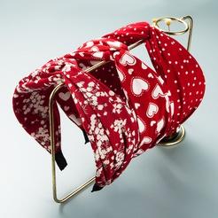 Bohemian fabric printing wide-sided knotted headband wholesale Nihaojewelry NHLN431599