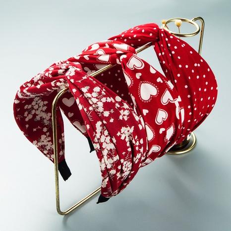 Bandeau noué à larges côtés en tissu bohème en gros Nihaojewelry NHLN431599's discount tags