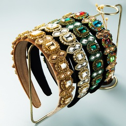 baroque diamond flannel headband wholesale Nihaojewelry NHLN431602
