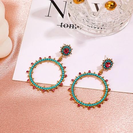 Retro-Diamant-besetzte Sonnenblume geometrische Ohrringe Großhandel Nihaojewelry NHDP431664's discount tags