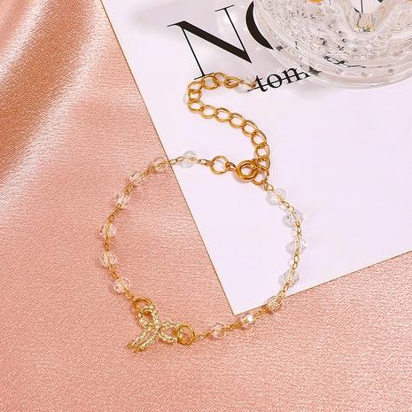 Koreanischer neuer Bogenkristall Spleißen Legierungsarmband Großhandel Nihaojewelry NHDP431670's discount tags