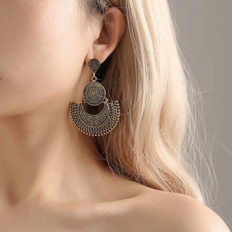 böhmische geschnitzte Quaste fächerförmige Ohrringe Großhandel Nihaojewelry NHDP431680's discount tags